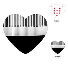 Piano Keys On The Black Background Playing Cards (Heart)