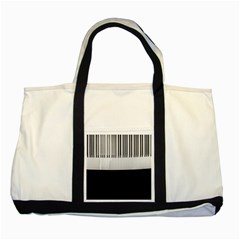 Piano Keys On The Black Background Two Tone Tote Bag