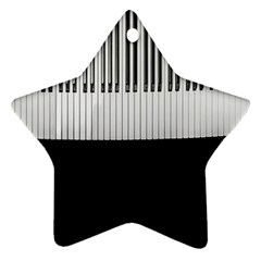 Piano Keys On The Black Background Star Ornament (Two Sides)