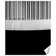 Piano Keys On The Black Background Canvas 8  x 10