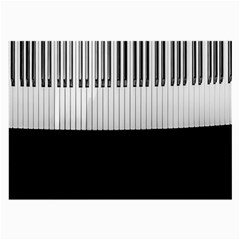 Piano Keys On The Black Background Large Glasses Cloth (2-Side)