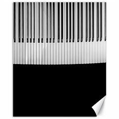 Piano Keys On The Black Background Canvas 11  x 14