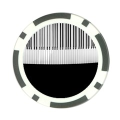 Piano Keys On The Black Background Poker Chip Card Guard