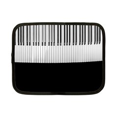 Piano Keys On The Black Background Netbook Case (Small)