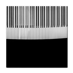 Piano Keys On The Black Background Face Towel