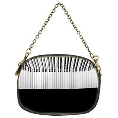 Piano Keys On The Black Background Chain Purses (one Side)