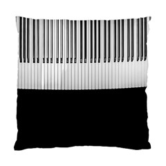 Piano Keys On The Black Background Standard Cushion Case (One Side)