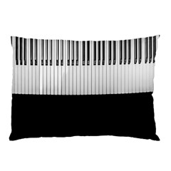 Piano Keys On The Black Background Pillow Case