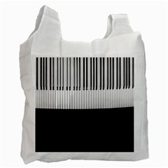 Piano Keys On The Black Background Recycle Bag (One Side)