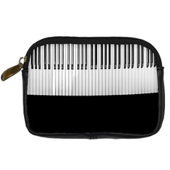 Piano Keys On The Black Background Digital Camera Cases