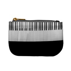 Piano Keys On The Black Background Mini Coin Purses