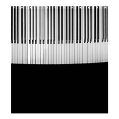 Piano Keys On The Black Background Shower Curtain 66  x 72  (Large)