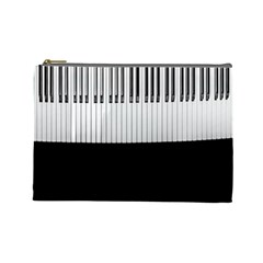 Piano Keys On The Black Background Cosmetic Bag (Large)