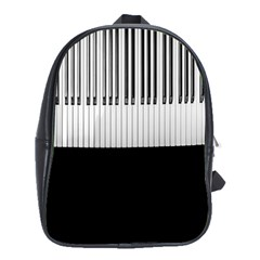 Piano Keys On The Black Background School Bags(Large)