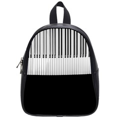Piano Keys On The Black Background School Bags (Small)