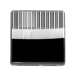 Piano Keys On The Black Background Memory Card Reader (Square)