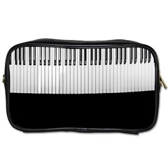 Piano Keys On The Black Background Toiletries Bags 2 Side