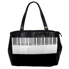 Piano Keys On The Black Background Office Handbags (2 Sides)