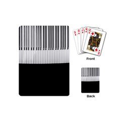 Piano Keys On The Black Background Playing Cards (mini)