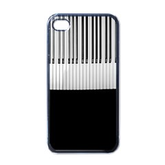 Piano Keys On The Black Background Apple Iphone 4 Case (black)