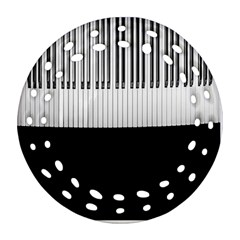Piano Keys On The Black Background Ornament (Round Filigree)