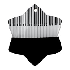 Piano Keys On The Black Background Ornament (snowflake)