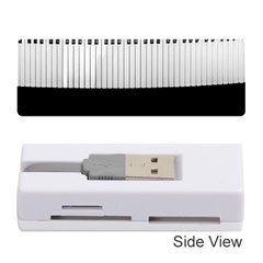Piano Keys On The Black Background Memory Card Reader (Stick)