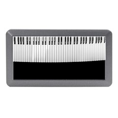 Piano Keys On The Black Background Memory Card Reader (mini)