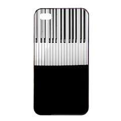 Piano Keys On The Black Background Apple iPhone 4/4s Seamless Case (Black)
