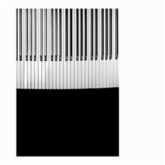Piano Keys On The Black Background Small Garden Flag (Two Sides)