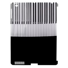 Piano Keys On The Black Background Apple iPad 3/4 Hardshell Case (Compatible with Smart Cover)
