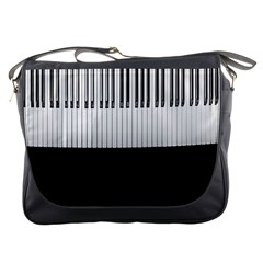 Piano Keys On The Black Background Messenger Bags