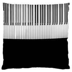 Piano Keys On The Black Background Large Cushion Case (one Side)