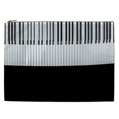 Piano Keys On The Black Background Cosmetic Bag (XXL)