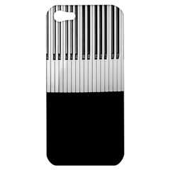 Piano Keys On The Black Background Apple Iphone 5 Hardshell Case