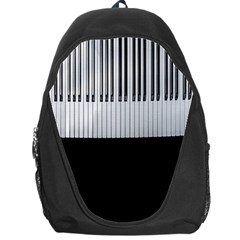 Piano Keys On The Black Background Backpack Bag
