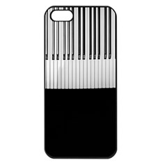 Piano Keys On The Black Background Apple iPhone 5 Seamless Case (Black)