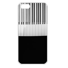 Piano Keys On The Black Background Apple Iphone 5 Seamless Case (white)