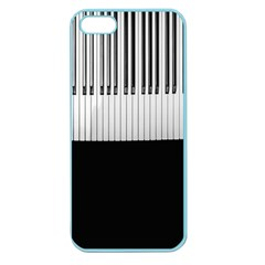 Piano Keys On The Black Background Apple Seamless Iphone 5 Case (color)