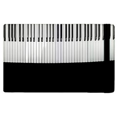 Piano Keys On The Black Background Apple iPad 2 Flip Case