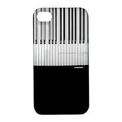 Piano Keys On The Black Background Apple Iphone 4/4s Hardshell Case With Stand