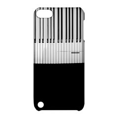 Piano Keys On The Black Background Apple Ipod Touch 5 Hardshell Case With Stand
