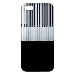 Piano Keys On The Black Background Apple Iphone 5 Premium Hardshell Case