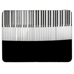 Piano Keys On The Black Background Samsung Galaxy Tab 7  P1000 Flip Case