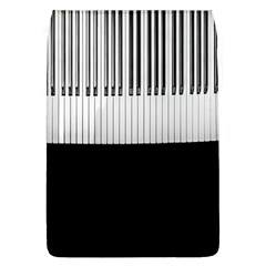Piano Keys On The Black Background Flap Covers (l)