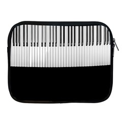 Piano Keys On The Black Background Apple Ipad 2/3/4 Zipper Cases
