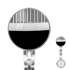 Piano Keys On The Black Background Stainless Steel Nurses Watch