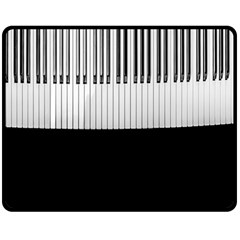 Piano Keys On The Black Background Double Sided Fleece Blanket (Medium)