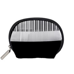 Piano Keys On The Black Background Accessory Pouches (small)