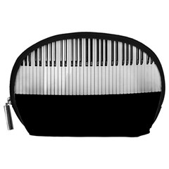 Piano Keys On The Black Background Accessory Pouches (large)
